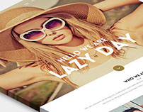 Free One page PSD design - Lazy day