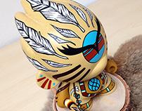 Custom hand painted Foomi Kachina