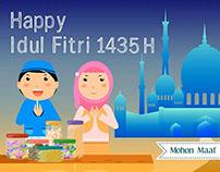 Happy Idul Fitri 1 Syawal 1435 Hijriah