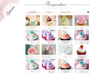 online cupcakes shop- layout