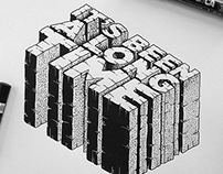 Hip Hop Lyrics - Hand drawn typography