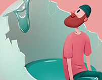 Computer Arts cover design illustration