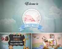 Birth Announcement - Baby Shower -Birthday Photo Album