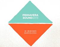 PRIMAVERA SOUND 2013 LINE UP