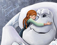 Digital Illustration: Anna and Marshmallow