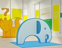 Interactive educational exhibition for kids