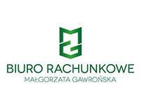 Biuro Rachunkowe Małgorzata Gawrońska Logo Design