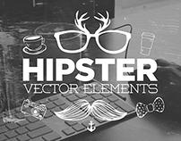 30 Handsketched Hipster Vector Elements