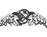 Grape & Vine Text Ornaments