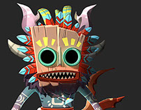 Forest Tiki in 3D