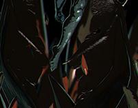 stylized demon