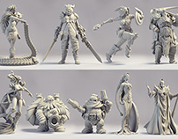 Demigods Rising - Mini-figurines for the board-game