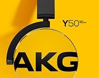 AKG Y50 / On-Ear Headphones
