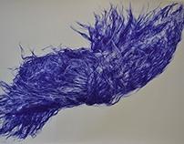 Blue Biro Hair Explosion