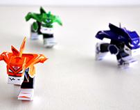 MechaLeast Attack ! - MechaBunny Papertoy Set Custom
