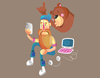 LINE stickers: HIPSTER & BEAR