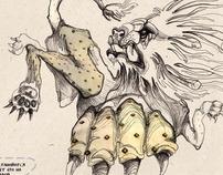 Illustrations for autors magazine
