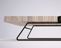 Squared coffee table