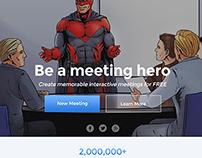 UI design for a meeting website