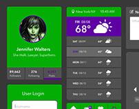 Superhero Themed UI Design – She-Hulk