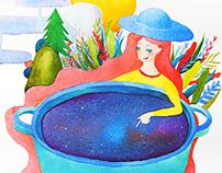 Cosmic story Illustration