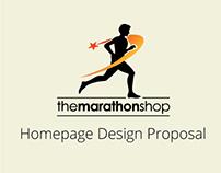 The Marathon Shop Homepage Design Proposal