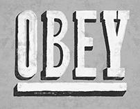OBEY Vintage Sign Design