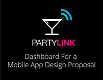 Party Link: Mobile App Dashboard Menu Design Proposal