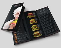 Burger House Brochure Tri-Fold