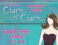 Clare to Clare Save the Date Poster
