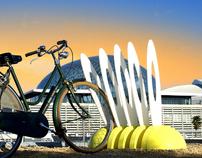 MARGUERITE bike rack prototype