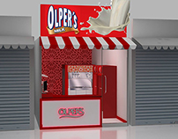 Olpers Milk Shop Design