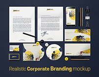 Download : Realistic corporate and branding mockup