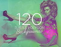 120 Subtle Polygon Backgrounds