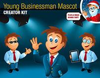 Young Business Man Mascot Creator Kit