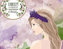 illustration for concept flower