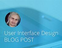User Interface for Blog Post