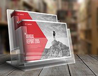 Photorealistic Horizontal Brochure Mock-Up