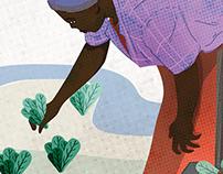 Themi living garden - illustration