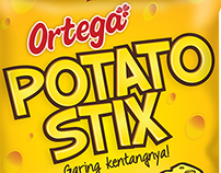 Ortega Potato Stix Packaging