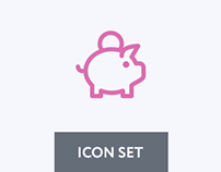 Shopping and Finance icon set