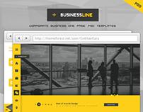 BusinessLine - Onepage Business .PSD Theme