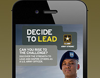 Decide to Lead - US Army Recruitment Career Challenge