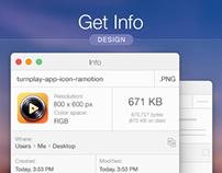 MacOS Get Info Design