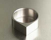 Teardrop Titanium Ring