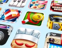 Realistic iOS App Icons