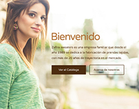 Zafira Sweaters - Web design