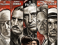 The Godfather Part II - Film Noir Poster