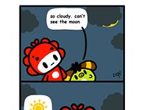 Monster Little comic - moon....