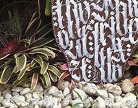 Calligraphy on a Skimboard